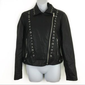 Collection B New York Faux Leather Moto Jacket
